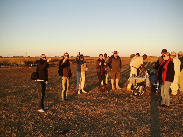 Okavango Delta sundowners