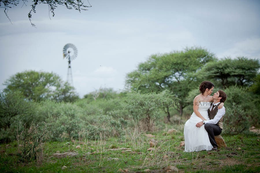 Wedding in the Savannah in Namibia (Picture by Susan Nel Photography)